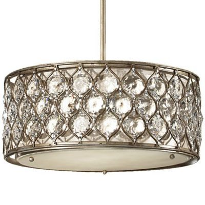 Lucia Drum Pendant by Feiss - study