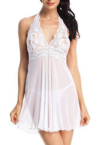 Women/'s Lingerie Babydoll Sleepwear Underwear Lace Dress Boxers Nightwear