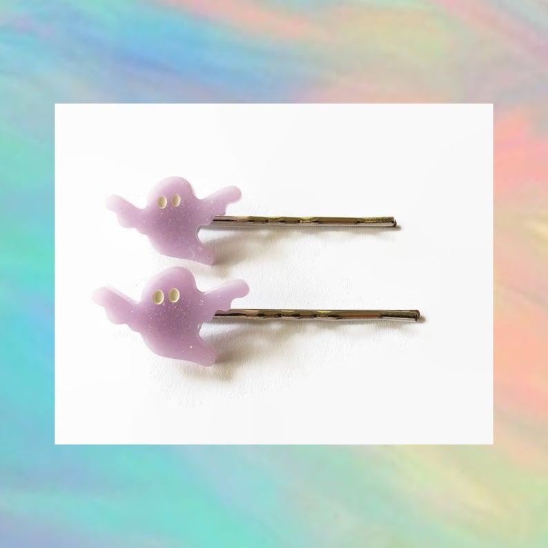 Ghost Hair Clips Cute Goth Bobby Pins