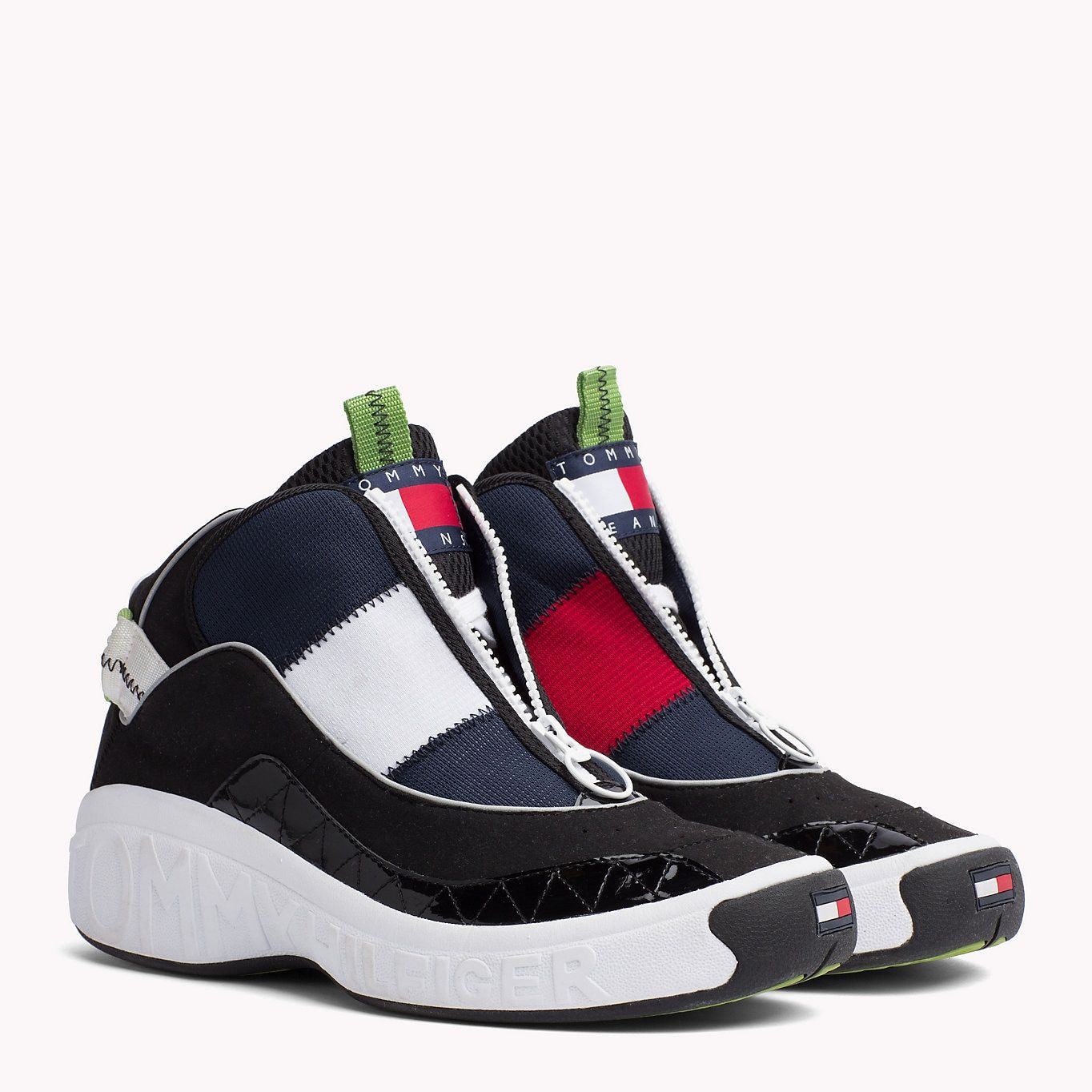 info for f639d da4af TOMMY JEANS Icon 90s Trainers - RED - WHITE - BLUE - BLACK - TOMMY JEANS  Men - main image