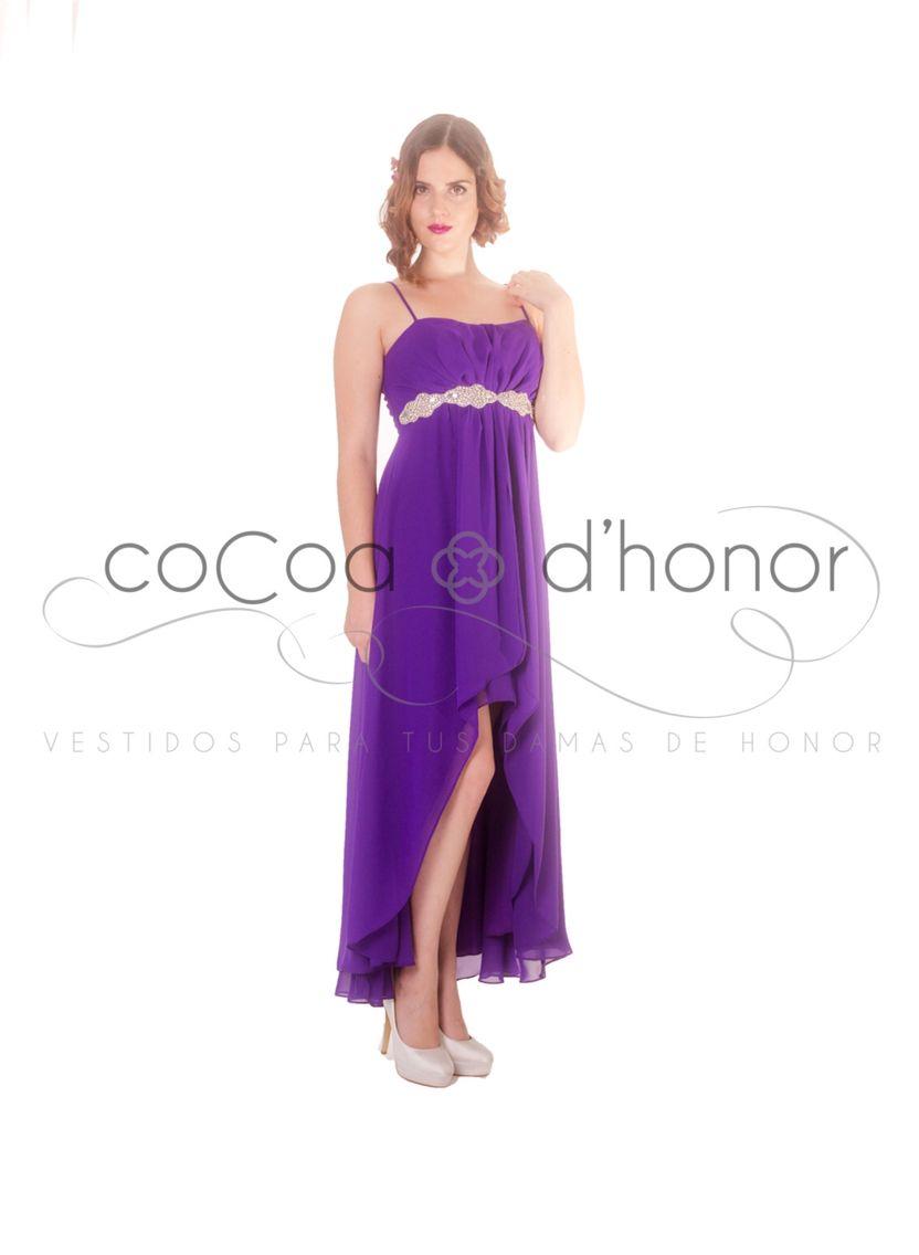 VestidosDamasdeHonor #morado #novia | Vestidos Damas de Honor ...