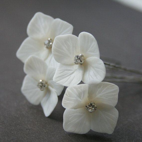 Hydrangea Bridal hair pin Flower Wedding hair pin Flower hair pin Bridal hair flower Bridal flower clip Bridal hair accessories