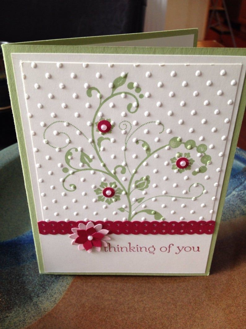 Thinking Of You Stampin' Up card made to order FREE SHIPPING #stampinup!cards