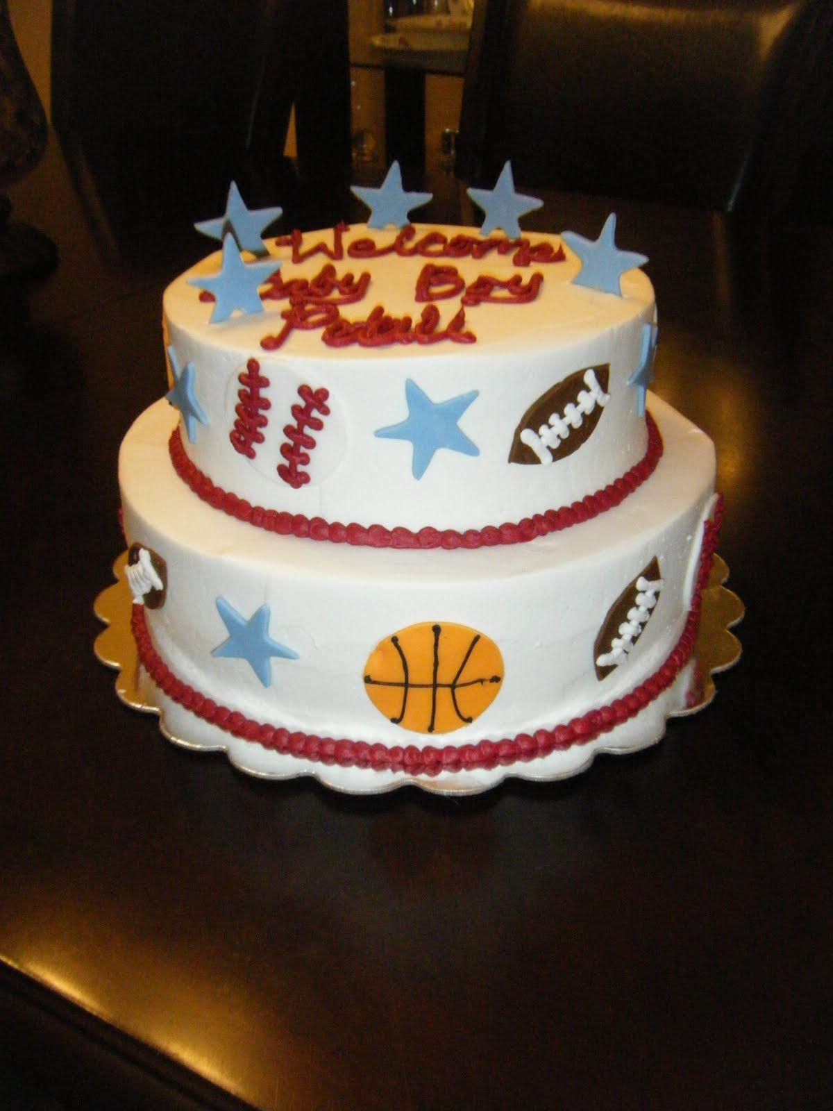 All Star Baby Shower Cake