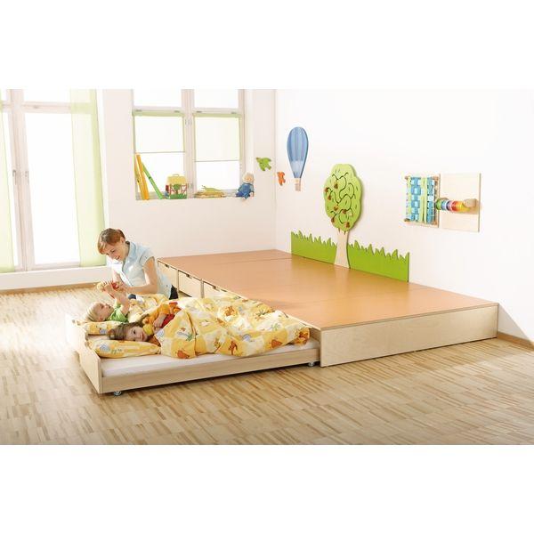 Podest mit auszugsbett spiel schlafpodeste for Raumgestaltung u3