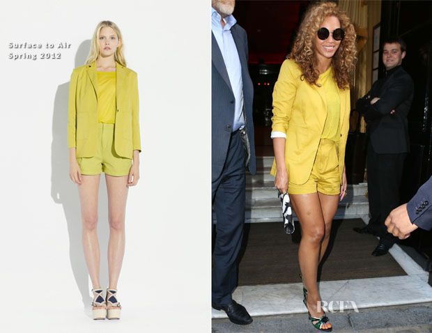 Beyonce Knowles In Surface To Air – Lunch In Paris