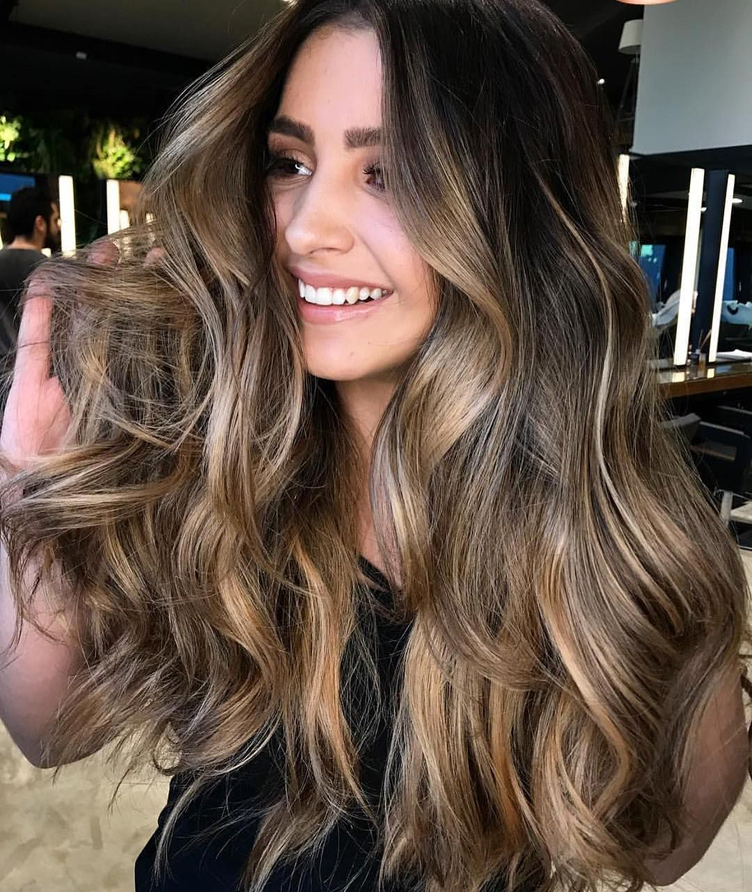 Hair and beauty]Balayage Hair front view in 2019