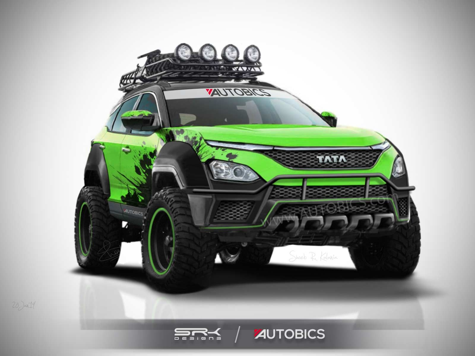 Tata Harrier Off Road Edition Concept Rendering Harrier Tata Offroad