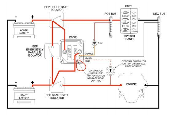 Dual battery wiring diagram chat Truck accessories, Honda