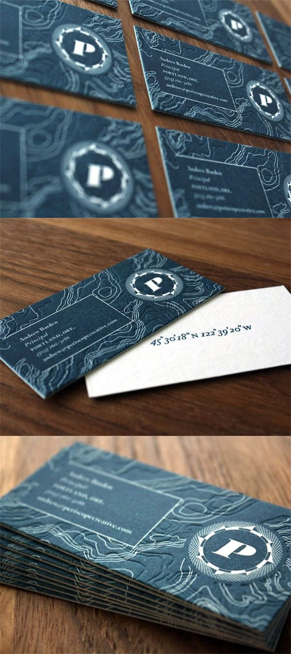 Unique business card design on the internet periscope creative periscope creatives letterpress business card reheart Gallery