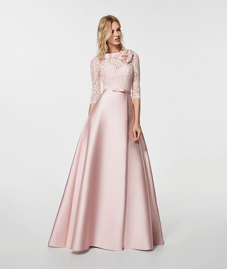 Vestido De Fiesta Rosa Palico Vestido Largo Glorymar