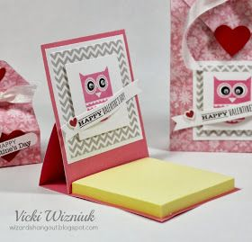 "Okay, so as promised, here's my instructions for the cute Valentine 3""x3"" Post-it Note cover that I shared yesterday.           First, s..."