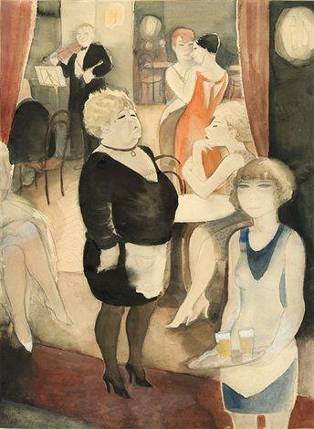 Jeanne Mammen Cafe Nollendorf 1931 Artist Art Station Art