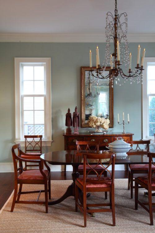 Transitional Dining Room Pertaining Palladian Blue Designs Decorating Ideas Design Trends Traditional Dining Room Design Dining Room Decor #palladian #blue #living #room