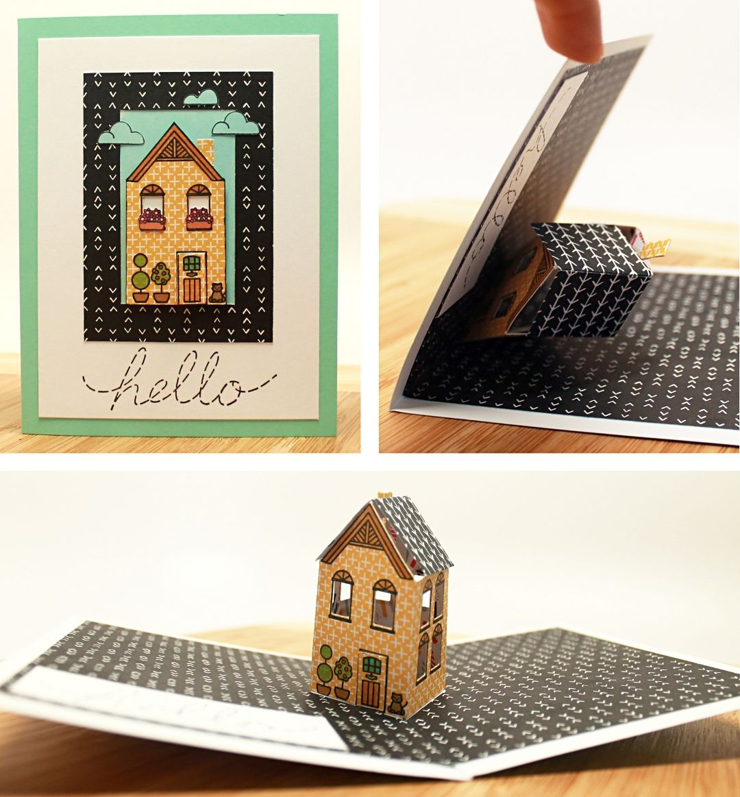 Pop Up House Card Tutorial House Warming Gift Diy Pop Up Greeting Cards Pop Up Box Cards
