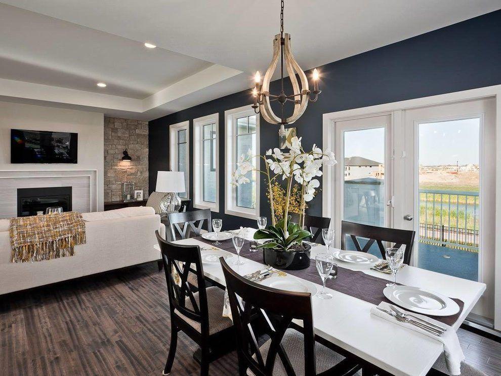 Mavy Wall In Farmhouse Dining Room Diys Com Dining Room Blue