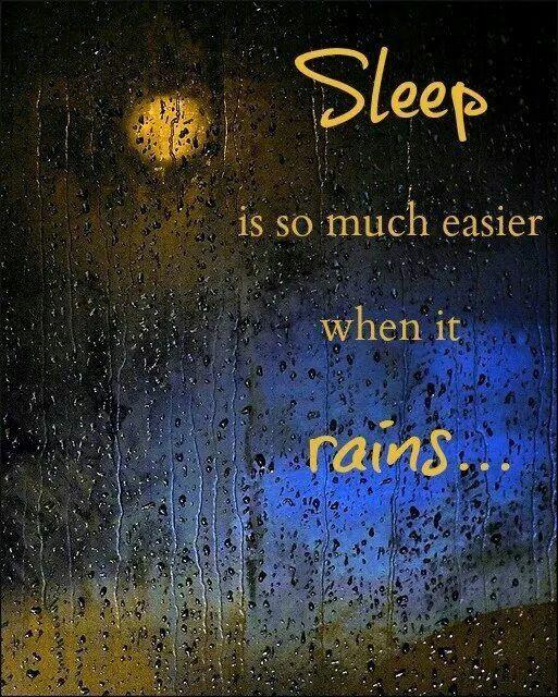 Sleep is so much easier when it rains ...