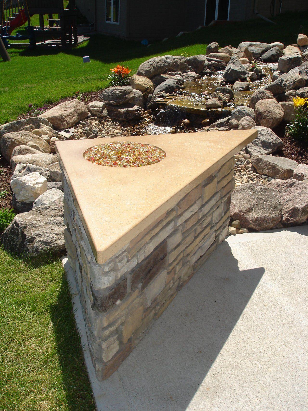 Custom Outdoor Patio Fire Pit Located Omaha Ne Fire Pit Materials Concrete Design
