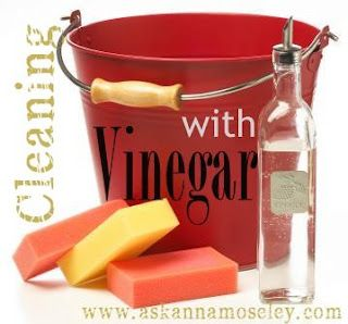 vinegar cleaning tips. Clean wood table to remove grime.