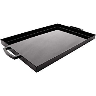 Zak Designs Meeme Rectangular Serving Tray 19 5 By 11 5 Break Resistant And Bpa Free Plastic Black Zak Designs Large Serving Trays Coffee Table Tray