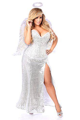 fc9cc768285 Fashion Bug Plus Size Premium Sequin Angel Corset Costume www.fashionbug.us   plussize  costumes 1X 2X 3X 4X 5X 6X