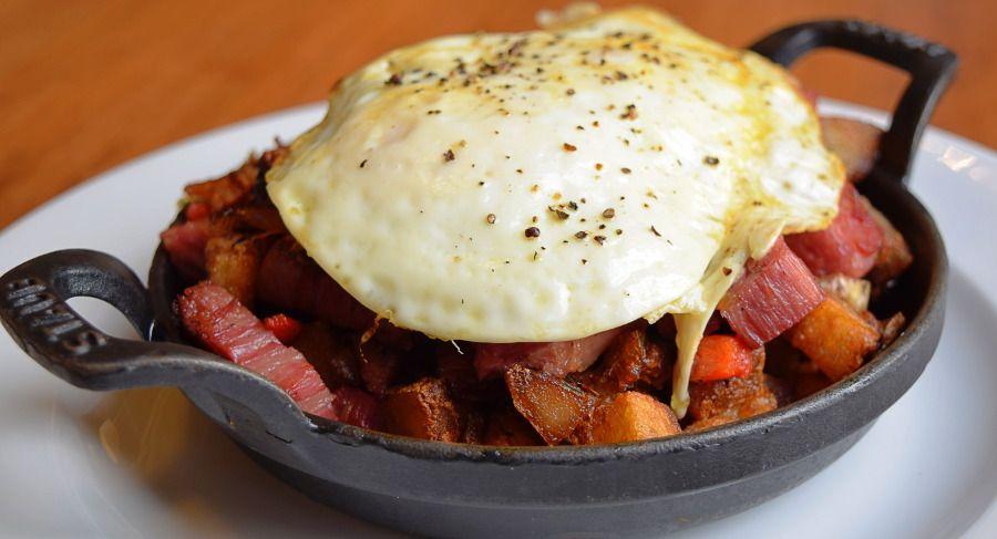 Top Breakfast Food Print Works Bistro Corned Beef Hash Greensboro