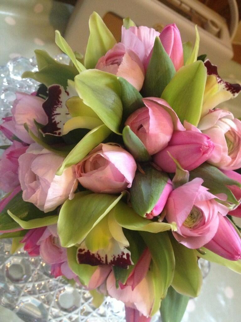 Pink flowered bouquet