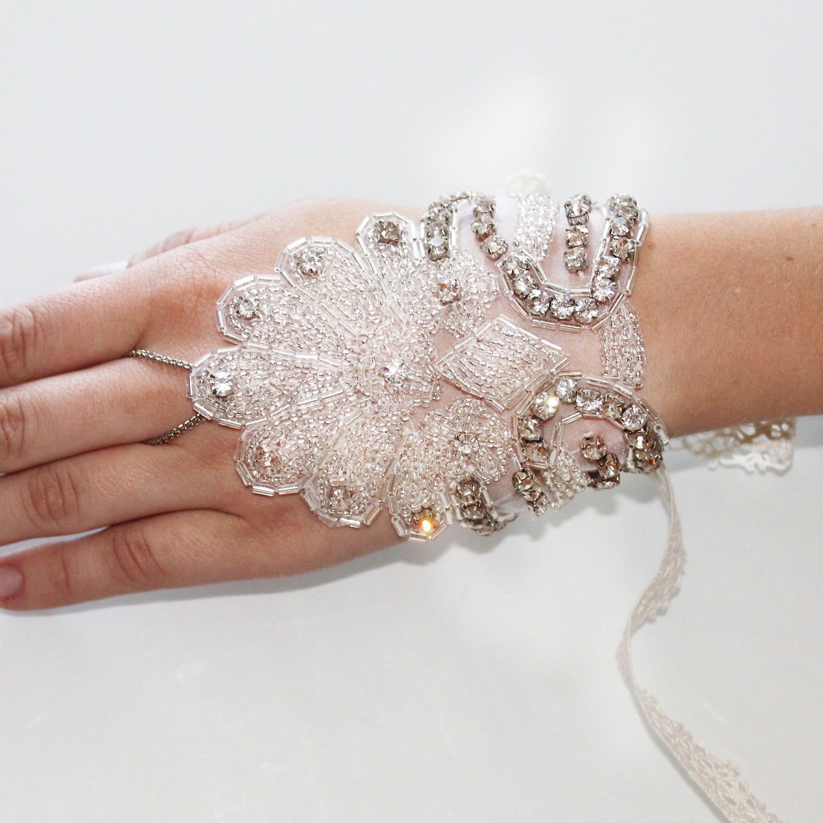 Kristin Perry Crystal Beaded 1920'S Inspired Great Gatsby Bridal Bracelet