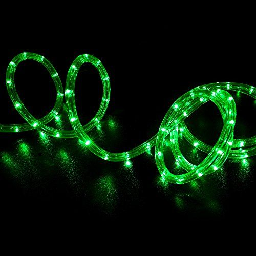 Wyzworks 150 feet green led rope lights flexible 2 wire accent wyzworks 150 feet green led rope lights flexible 2 wire accent holiday christmas party decoration lighting aloadofball Images