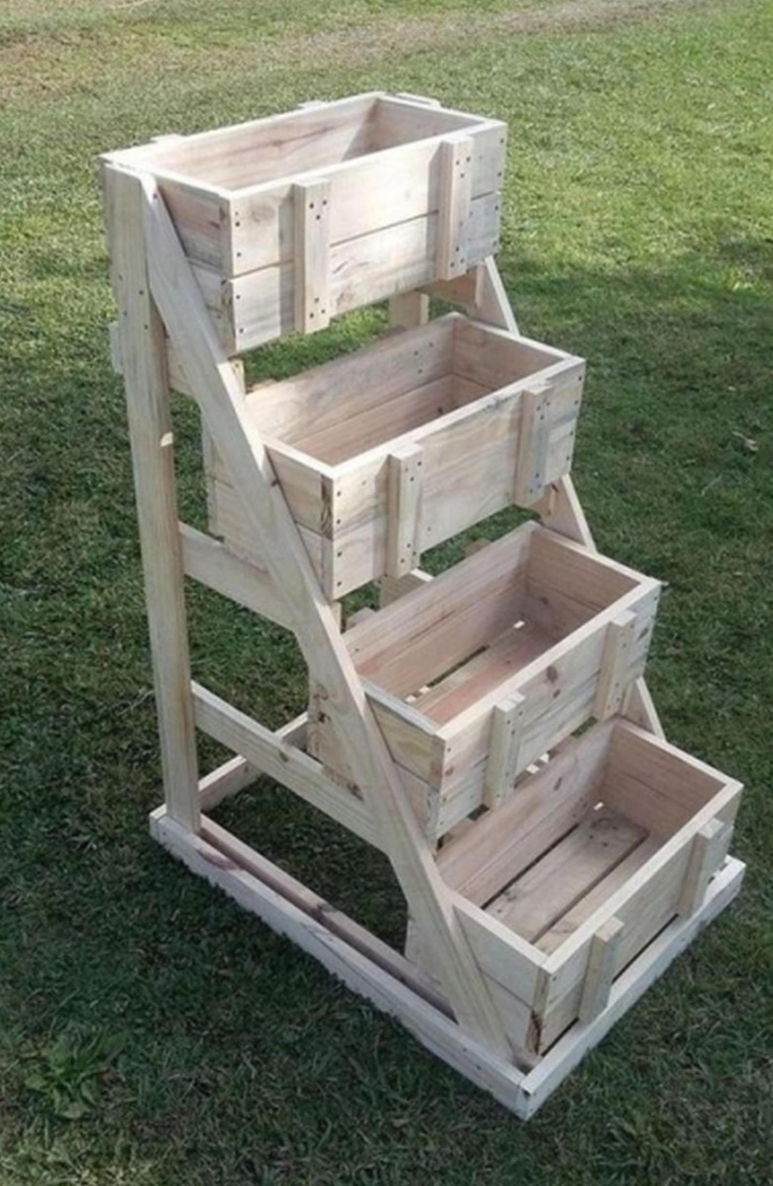 4 Tier Stand Plans is part of Wood pallet planters - 2x11 paper)of details for easy and sturdy assembly   Skill Levelnovicebeginner  Estimated