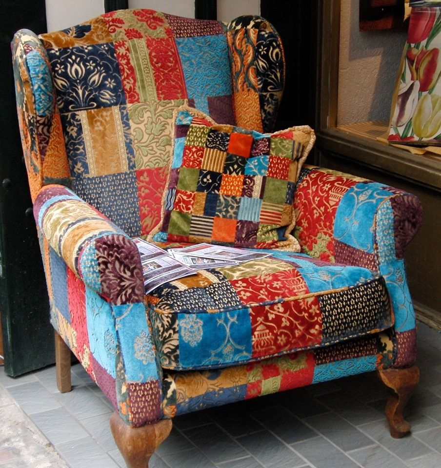 Image may contain people sitting and indoor Patchwork