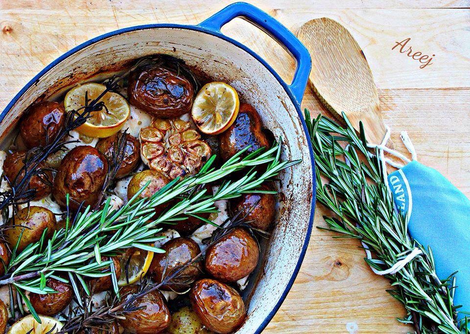 Rosemary Lemon Chicken دجاج بالروزماري والليمون Egyptian Food Middle Eastern Recipes Cooking Recipes