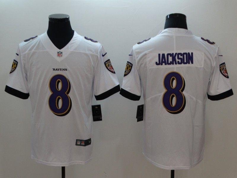 Baltimore Ravens 8 Lamar Jackson White Vapor Untouchable Limited ...