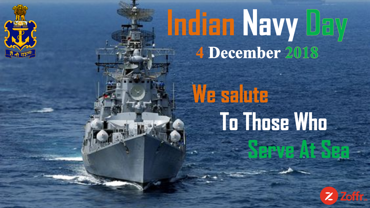 Indian Navy Day 2018 We Salute To Those Who Serve At Sea Indian Navy Day Navy Day Indian Navy