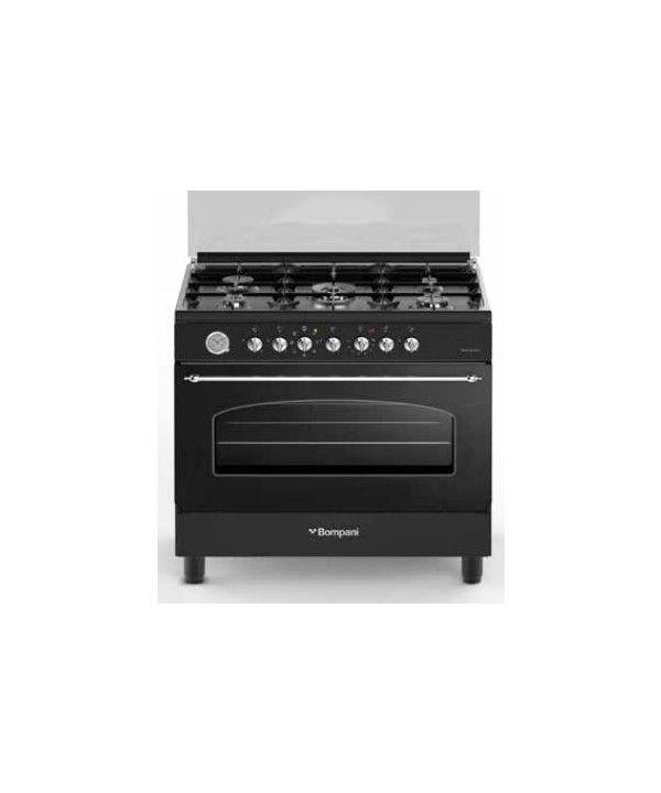 Bompani Cucina 90x60 5 Fuochi Forno Elettrico Antracite BO687MB/N ...