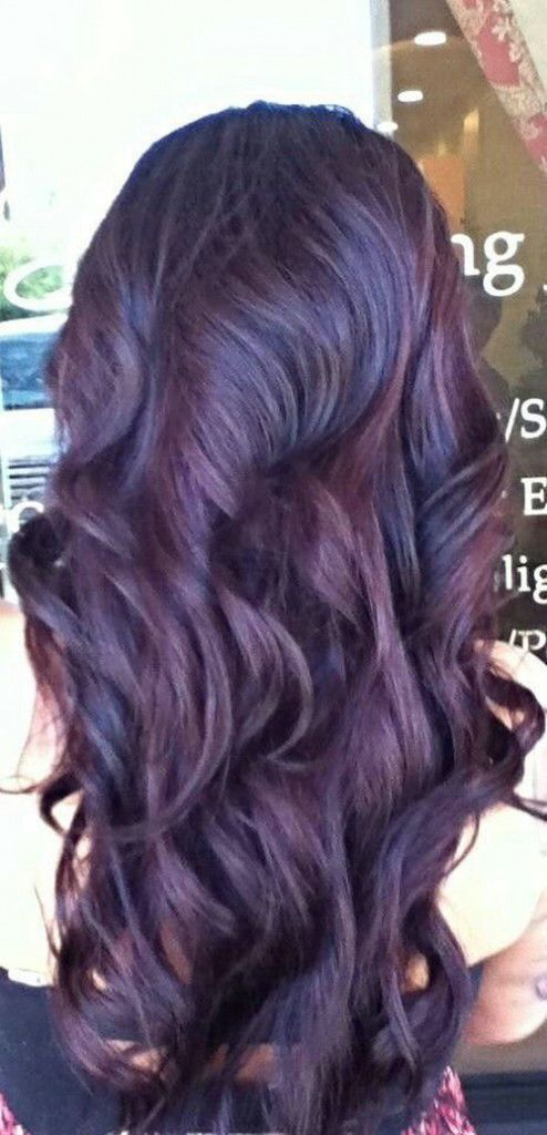 Deep Plum Purple Tint Hair It Description From Pinterest I