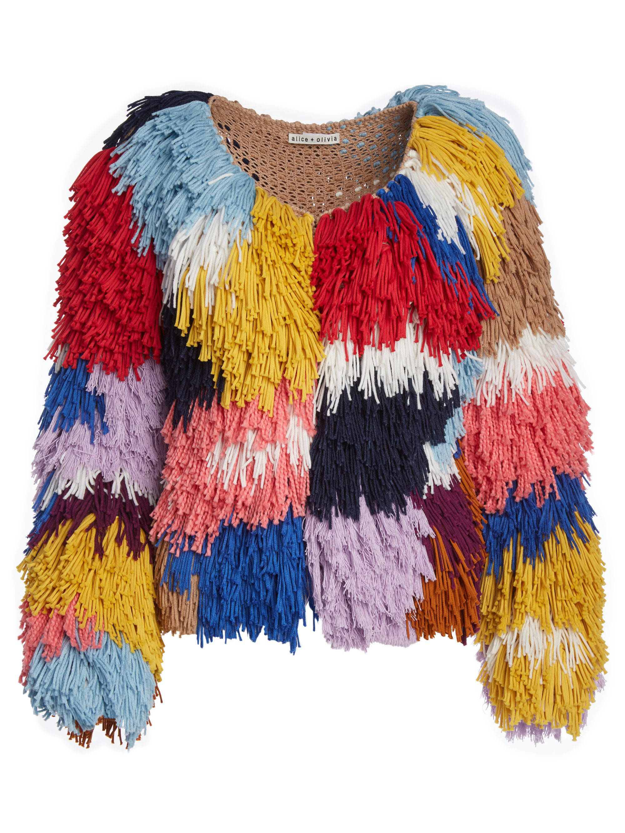 5409925cbd FAWN MULTI-COLOR FRINGE JACKET by Alice + Olivia | ALICE AND OLIVIA ...