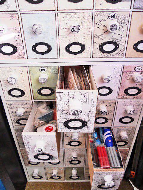 Organizador a partir de cajas de zapatos