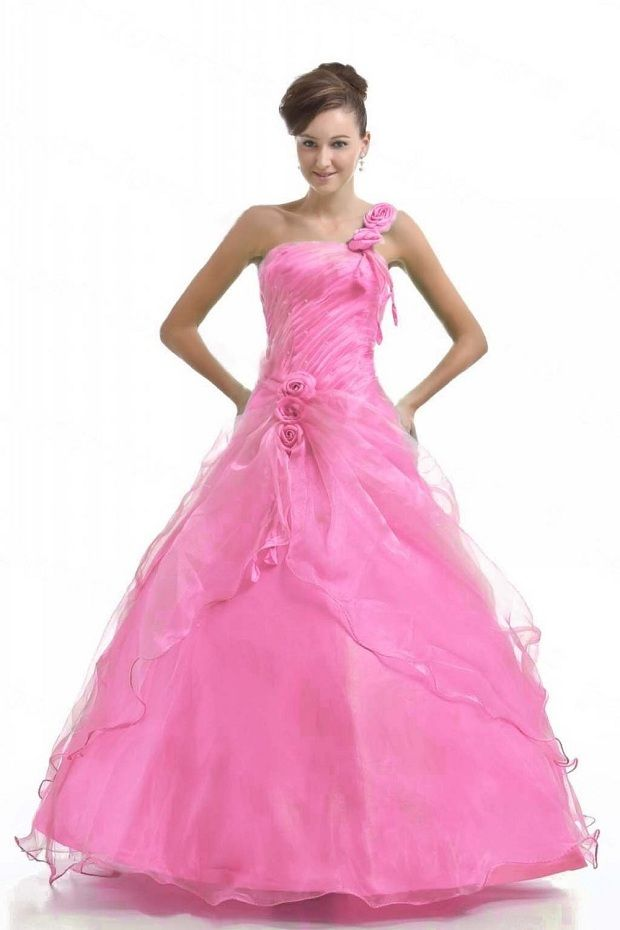 pink plus size disney princess prom dress ball gowns 2013