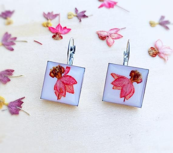 Handmade Orchid Earrings Unique Nature Jewelry Pressed Flower Orchid Jewelry Mother S Day Gift Elegant Statement Earrings Resin Jewelry In 2020 Real Flower Jewelry Orchid Earrings Flower Jewellery