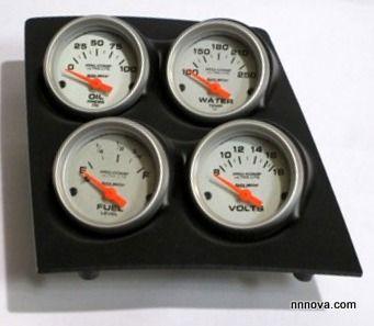 1968 1974 Nova Console Black Finish Quad Pod With Autometer Ultra