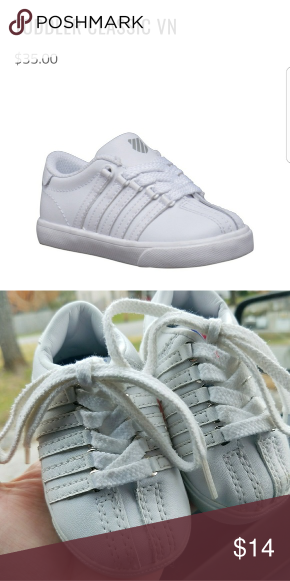 Classic K-Swiss leather baby shoes