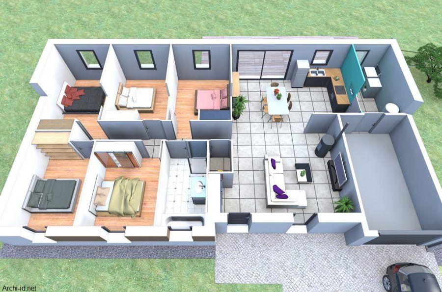 Plan de maison  les logiciels gratuits et faciles à utiliser - maisons plain pied plans gratuits