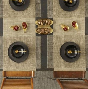 Mini Basketweave Table Runner By Chilewich Modern Tablecloths