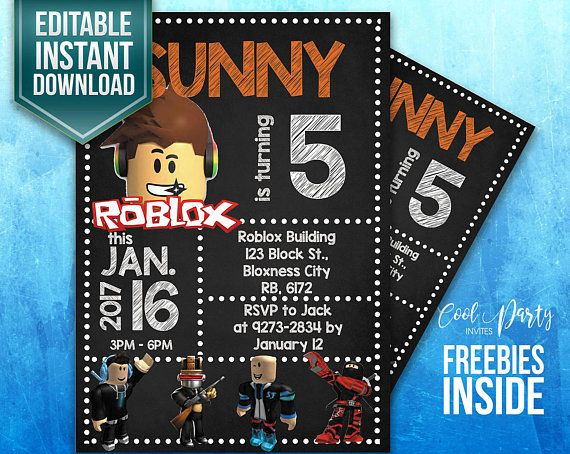 Roblox Invitation Invite Birthday