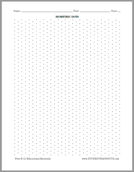 photograph regarding Isometric Dot Paper Printable titled Isometric Dots Graph Paper - Cost-free toward Print Arithmetic