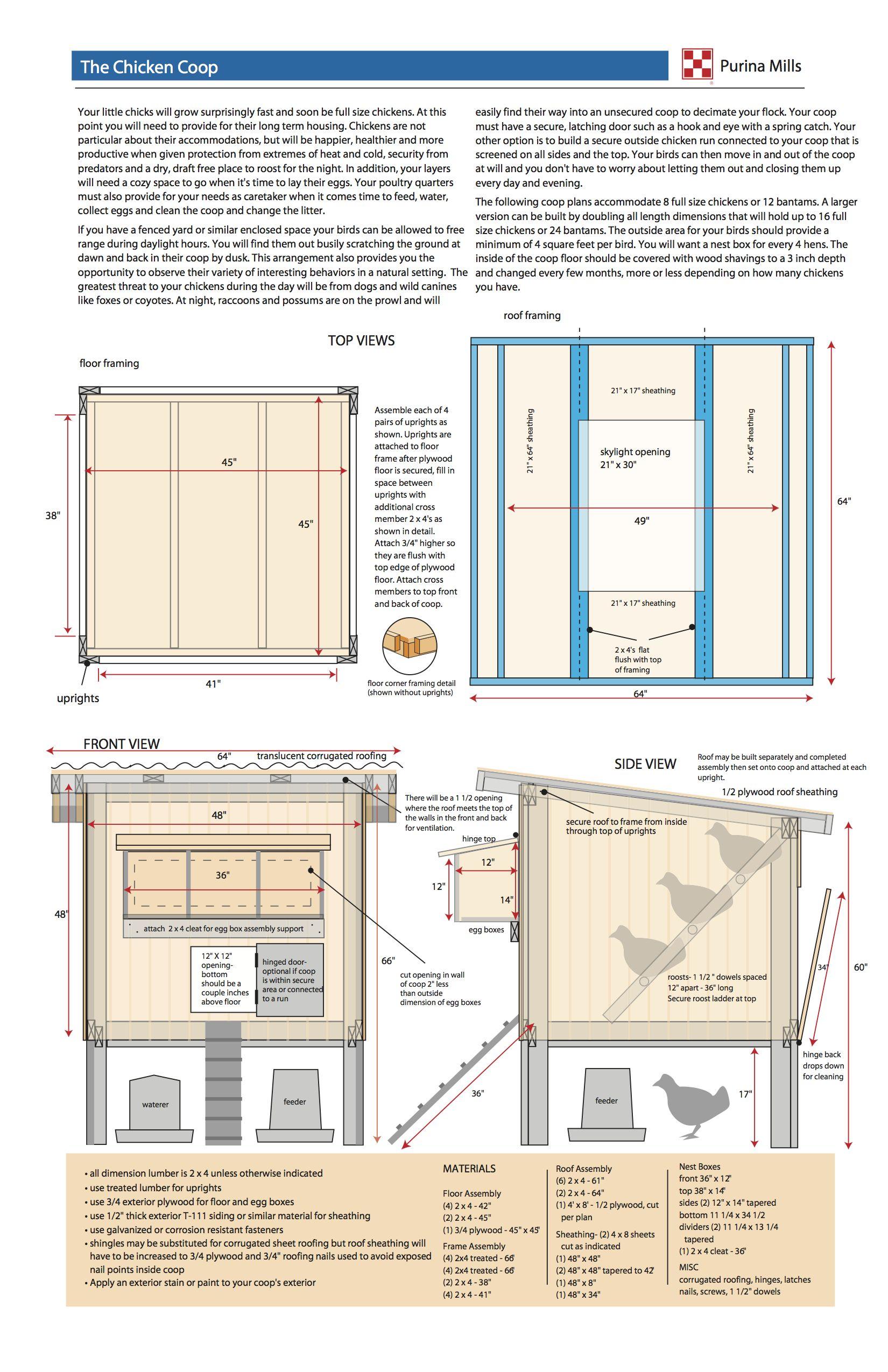 Purina Hen House Design Plans
