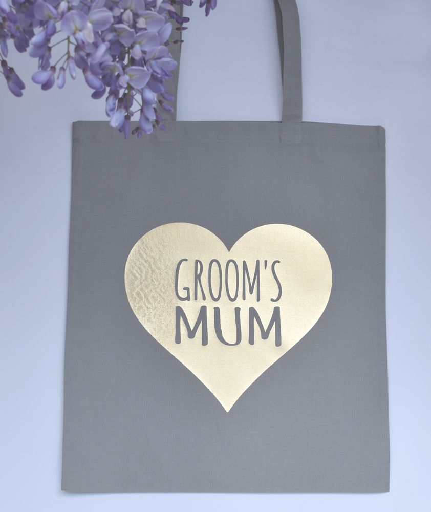 Wedding tote bag. Grooms mum tote bag. Mother of the Groom.