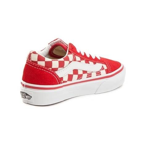 d3d47f4efee997 Youth Vans Old Skool Chex Skate Shoe - red - 1498098
