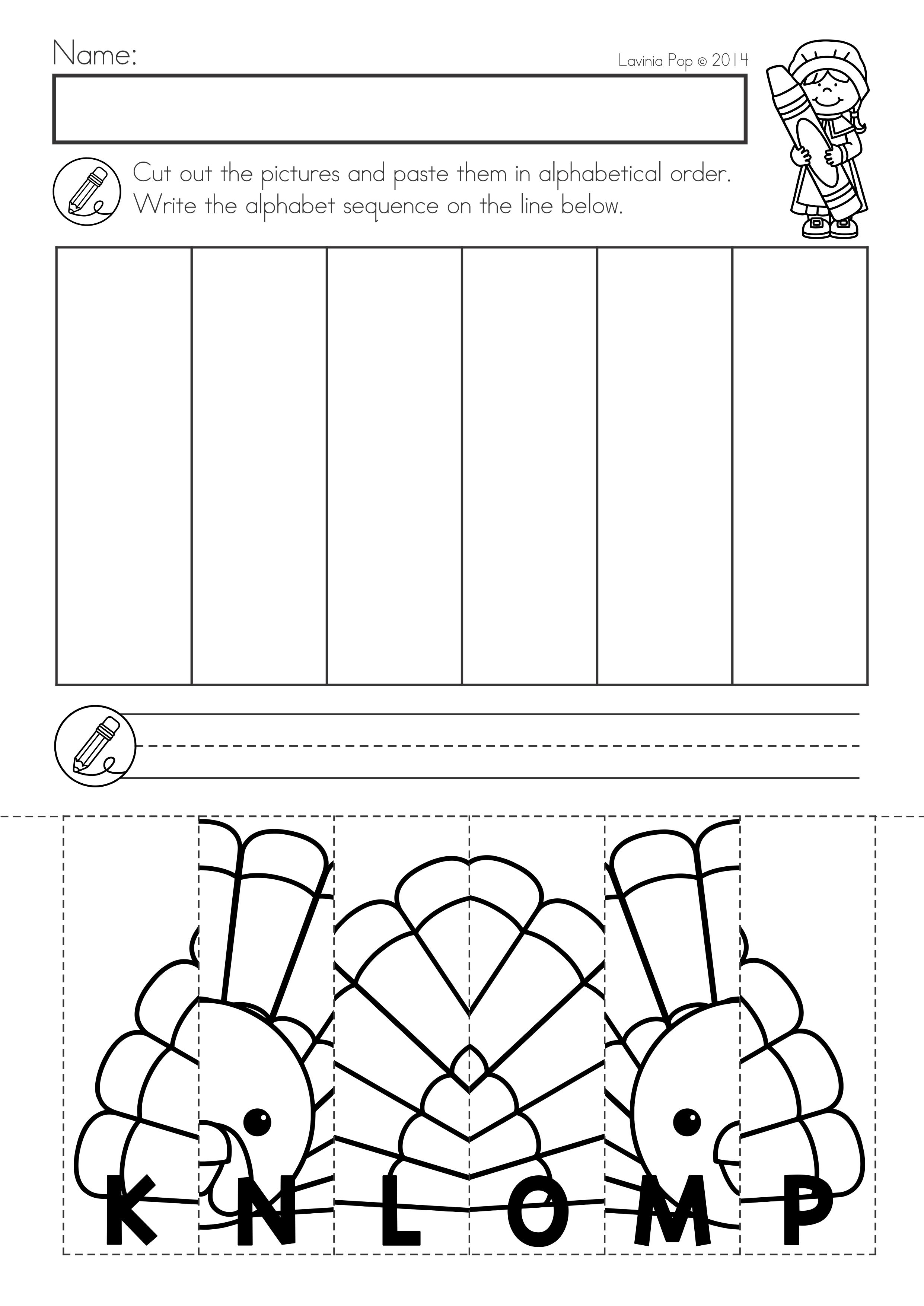 Pin On Thanksgiving Thanksgiving cut and paste worksheets